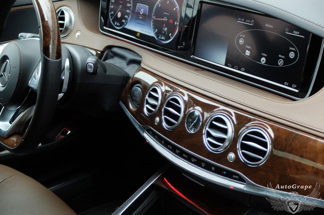 Мониторы для задних пассажиров Mercedes w222