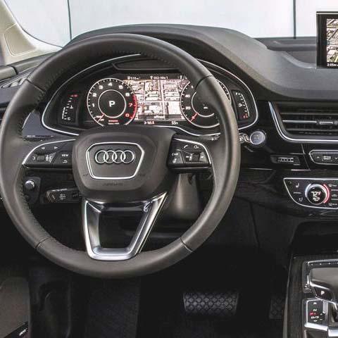 цифровая приборная панель Audi Q7