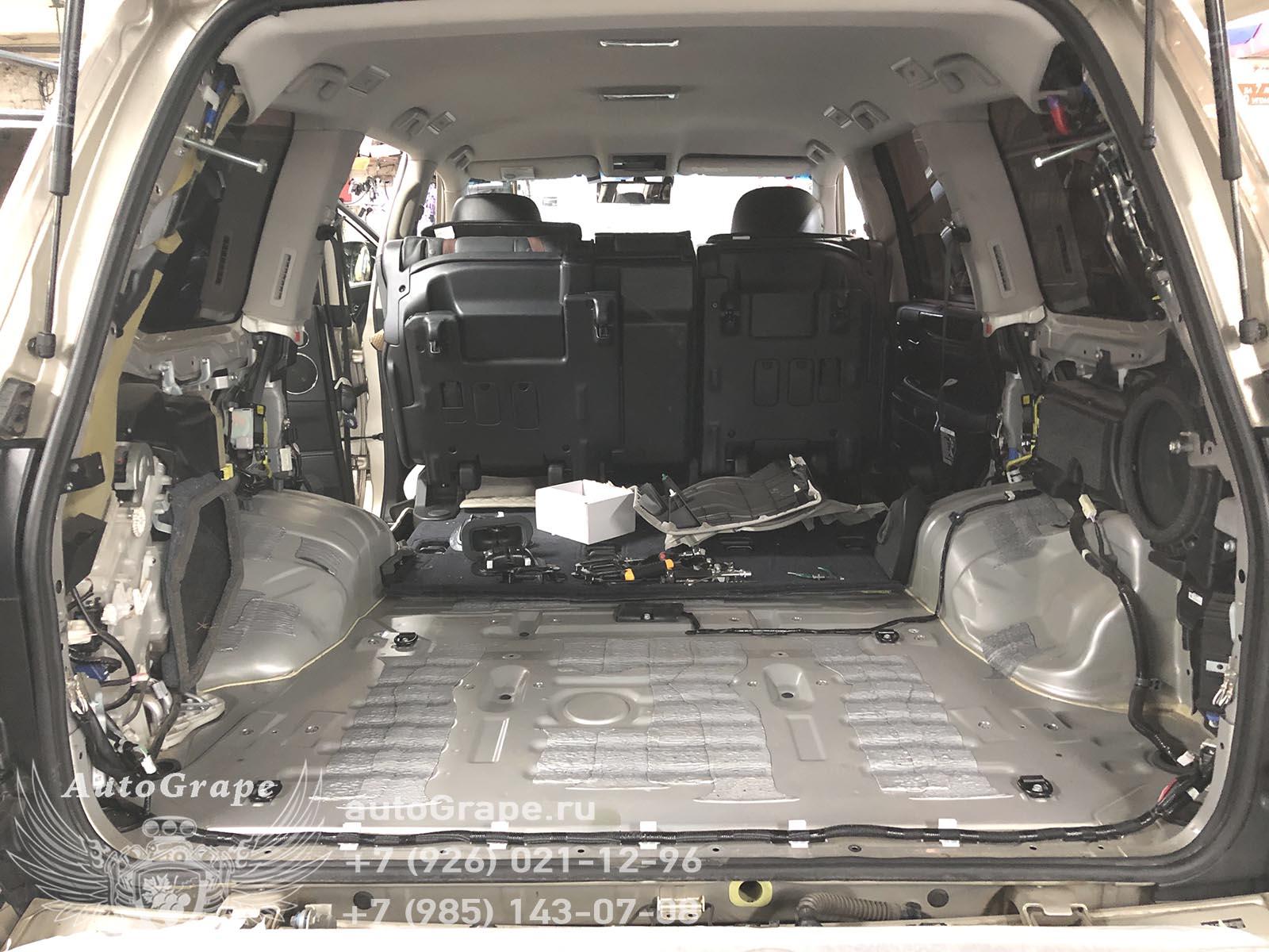 Отсутсвие шумоизоляции пола Lexus LX