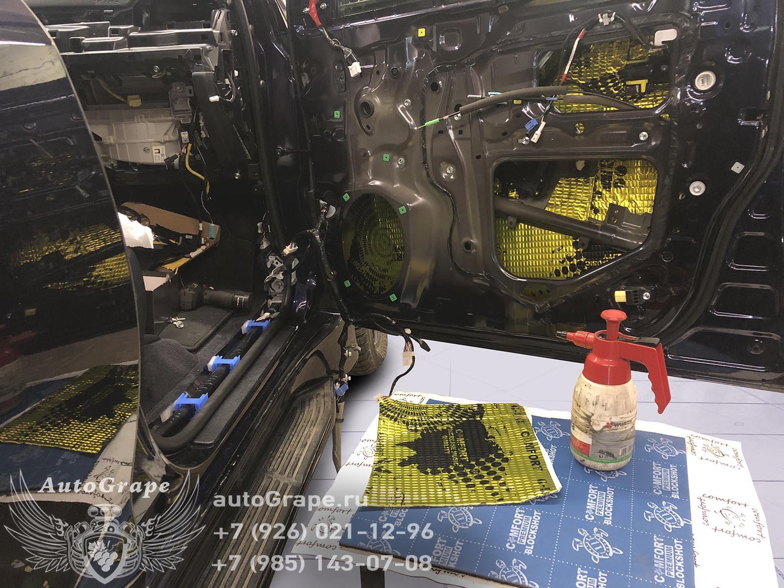 Шумоизоляция дверей Lexus LX 570