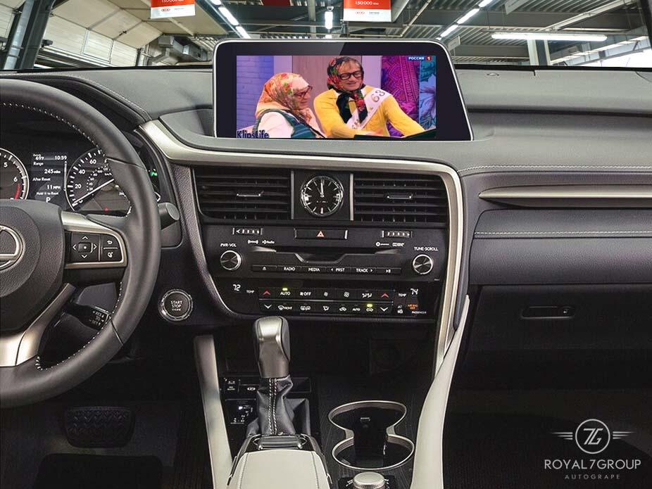 Установка мультимедиа в Lexus